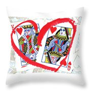 Love Is In The Cards Throw Pillow