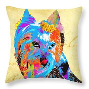 Love Is In The Dog's Eyes  Throw Pillow