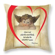 Love Is In The Heart Throw Pillow