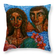Love Is Like A Bird Throw Pillow