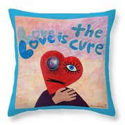 Love Is The Cure Throw Pillow