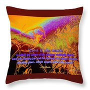 Love Is The Music Throw Pillow