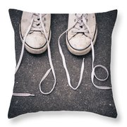 Love Laces Throw Pillow
