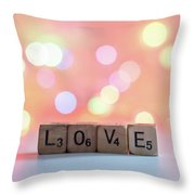 Love Lights Square Throw Pillow