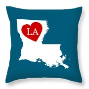 Love Louisiana White Throw Pillow