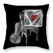 Love Melody Throw Pillow