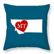 Love Montana White Throw Pillow
