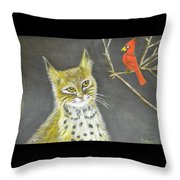 Love My Cats And Cards Throw Pillow