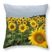 Love My Sunflowers Throw Pillow