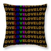 Love Neon 1 Throw Pillow
