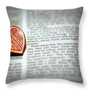Love Never Fails Throw Pillow