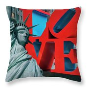 Love New York Throw Pillow