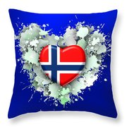 Love Norway 2 Throw Pillow