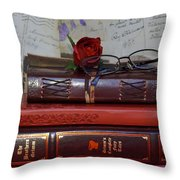 Love Of Books Throw Pillow