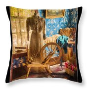 Love Of Sewing Poster Throw Pillow