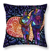 Love On High Notes Throw Pillow