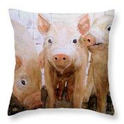 Love On The Farm  Throw Pillow