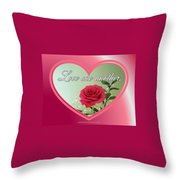 Love One Another Card Throw Pillow