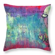 Love Painting Throw Pillow