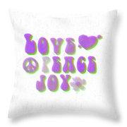Love Peace And Joy 11 Throw Pillow