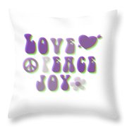 Love Peace And Joy Throw Pillow