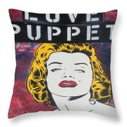 Love Puppet Throw Pillow