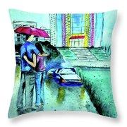 Love Rain Throw Pillow