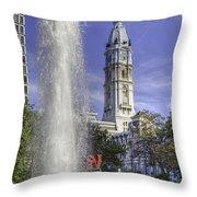 Love Sculpture Philadelphia  Throw Pillow