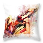Love Sex Romance Throw Pillow