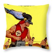 Love Slaves Of The Arcturian Birdmen Throw Pillow