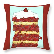 Love Strawberries  Throw Pillow
