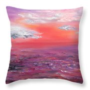 Love Sunsets And Dawns Throw Pillow
