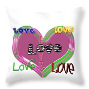 Love T-shirt Clothing Throw Pillow