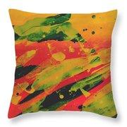 Love Those Diagonals - Yellow 1 Throw Pillow