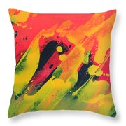 Love Those Diagonals - Yellow 2 Throw Pillow