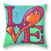 Love Tulips Throw Pillow