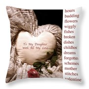 Love Victorian Style Throw Pillow