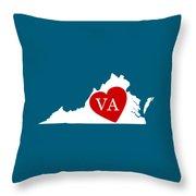 Love Virginia White Throw Pillow