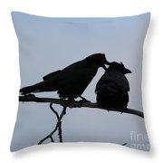 Love Whispering Throw Pillow