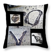 Love Written In The Trees 4 Throw Pillow