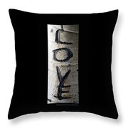Love Written In The Trees 5 Throw Pillow