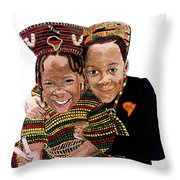 Love You Sister Love You Brother Throw Pillow