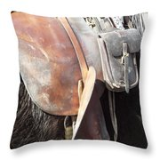 Loved Leather Tack Throw Pillow