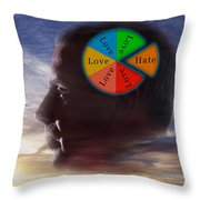 Lovehate Relationship Throw Pillow