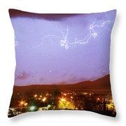 Loveland Colorado Front Range Foothills  Lightning Thunderstorm Throw Pillow