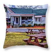 Loveless Cafe Throw Pillow