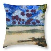 Lovely Beach Throw Pillow
