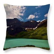 Lovely Cracker Lake Throw Pillow