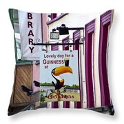 Lovely Day For A Guinness Macroom Ireland Throw Pillow