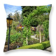Lovely Day In The Garden Throw Pillow by Carol Groenen